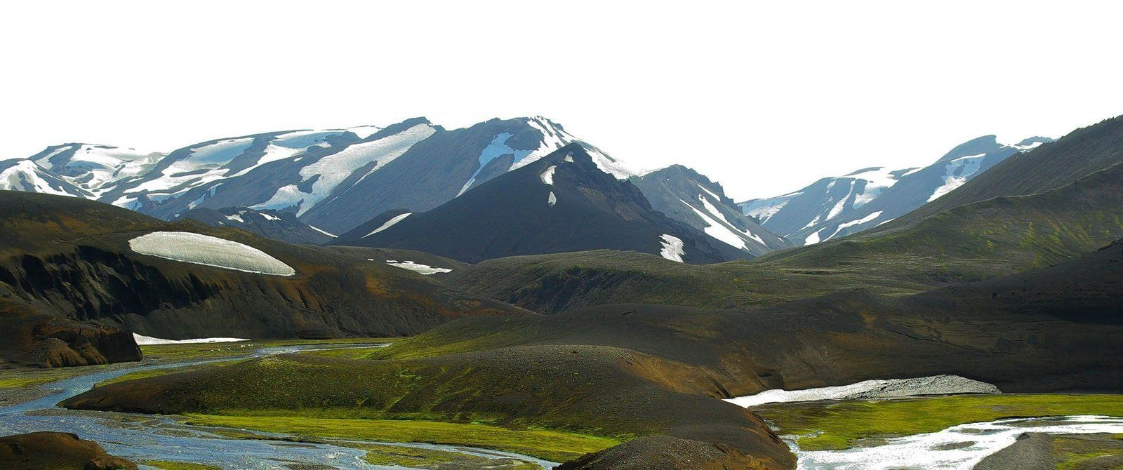 Trekking and trails in Landmannalaugar rainbow mountains, Iceland