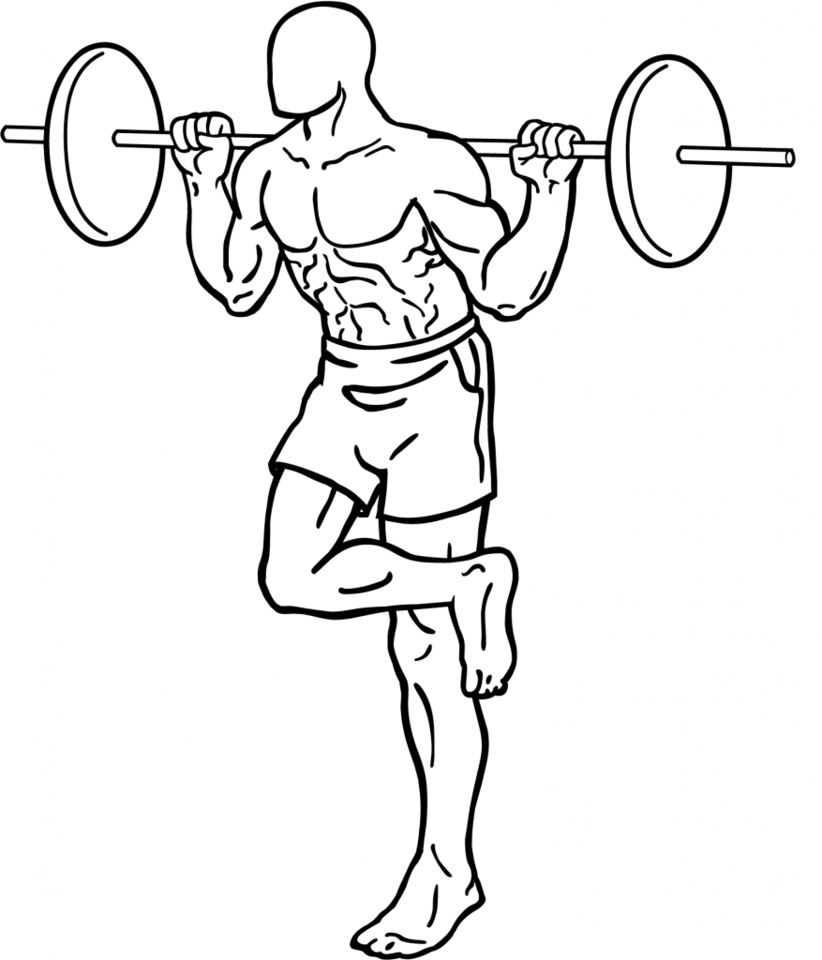 Single-leg squat exercise training