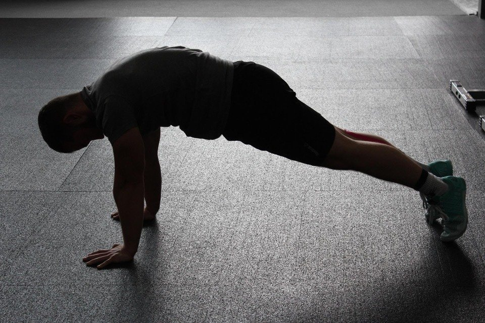 Man During a Plank Workout