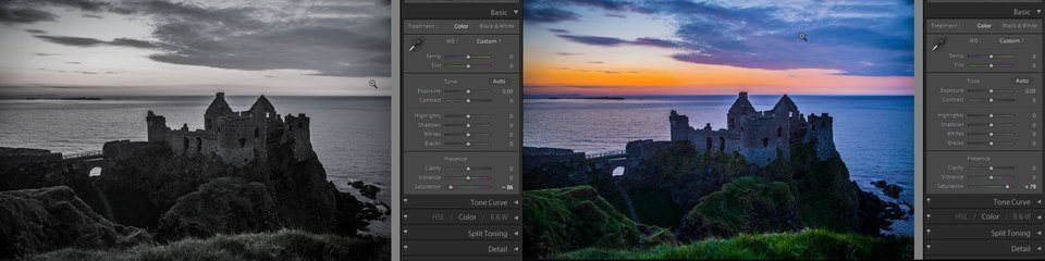 Lightroom saturation - how it works, example