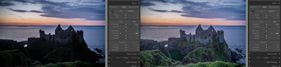 Lightroom shadows (basic adjustments)