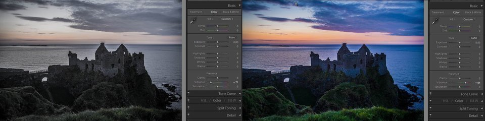 Lightroom vibrance - how it works, example