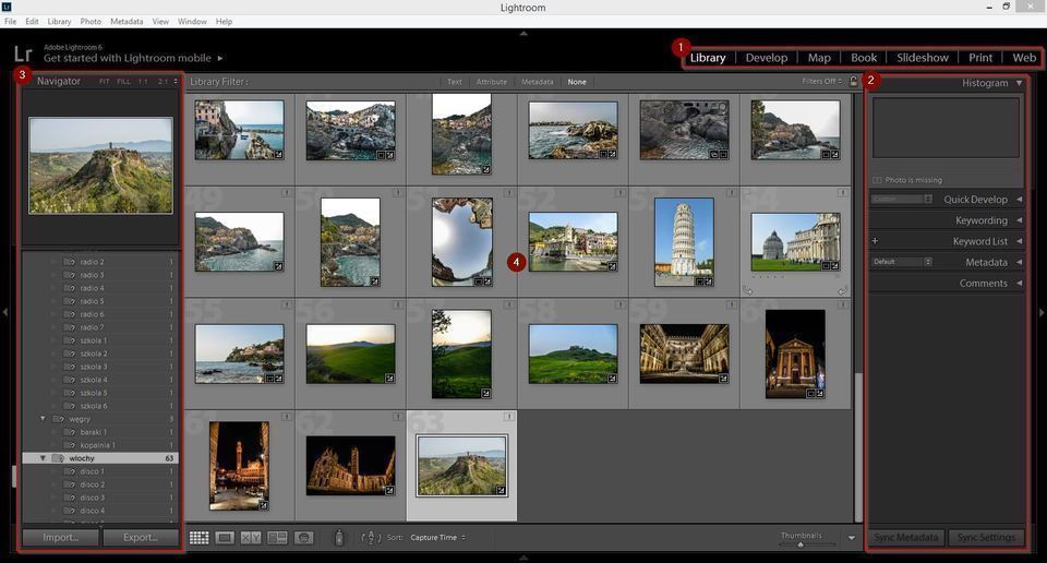 Lightroom basics: Interface