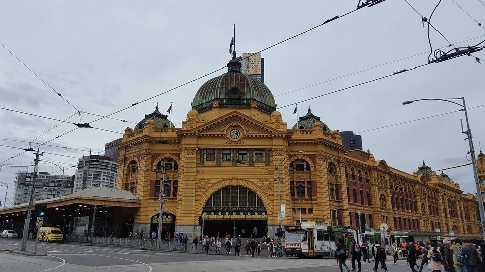 Flinders Central Station in Melbourne