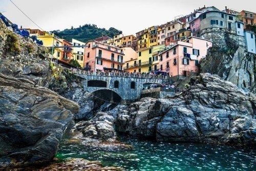 Riomaggiore town in Cinque Terre, Italy